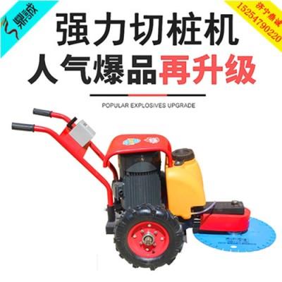 河南信阳手推式快速截桩机 钢筋水泥桩环切机 桩头切割机