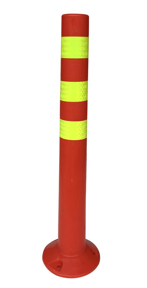 粤盾交通PE塑料弹力柱警示柱 柔性禁止柱橡胶车位塑料桩