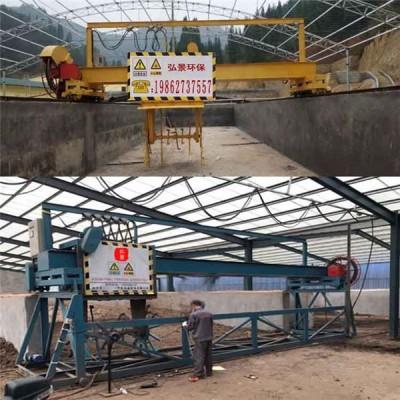 农家乐粪污处理设备翻堆机粪便发酵还田粪水发酵沼气