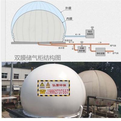 球冠储气囊干式沼气储气柜设计条件和特性数据