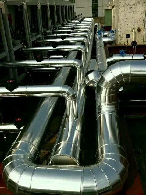 蒸压釜白铁皮保温工程设备管道铝皮保温厂家