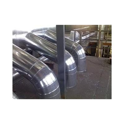 换热站铝皮玻璃棉管道保温镀锌铁皮保温工程