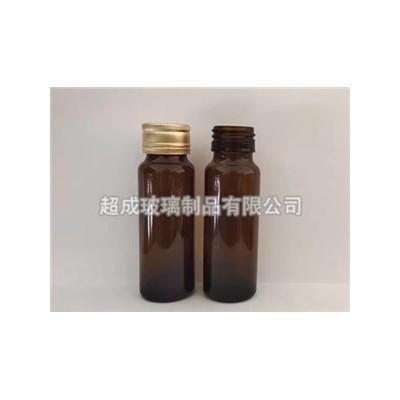 超成30ml棕色口服液玻璃瓶钠钙玻璃材质