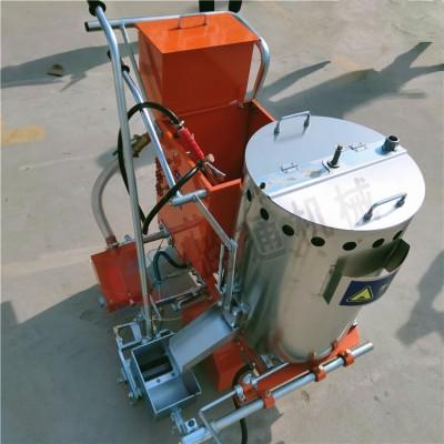 青海手推式沥青路面热熔划线机 带加热保温划线机 图片视频