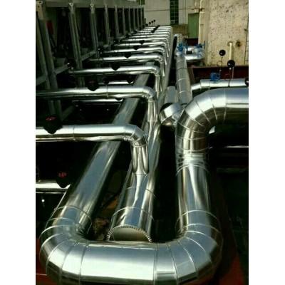 单面铝箔岩棉毡铁皮保温工程设备管道保温承包