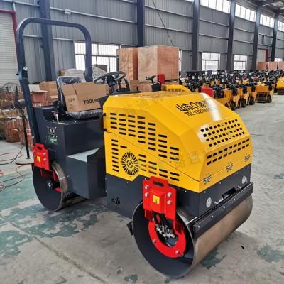 路通生产工程压路机 2吨全液压双钢轮压实机 施工视频