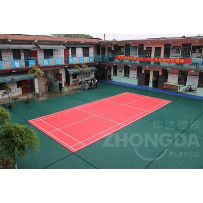 仲达塑胶 户外网球场悬浮地板厂家 运动拼装地板批发价