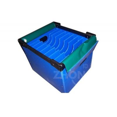 仲达塑胶 PP塑料中空板刀卡箱厂家 塑料周转箱供应商